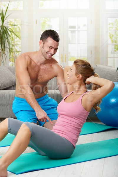 Abdominal exercise Stock photo © nyul
