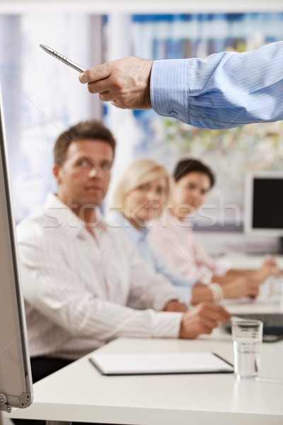 Stock photo: Businessman speaking on presentation