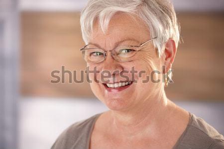 Stock photo: Portrait of happy senior woman