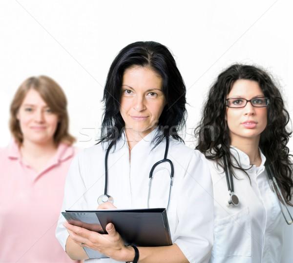Stock fotó: Orvosi · csapat · boldog · női · orvosok · nővér