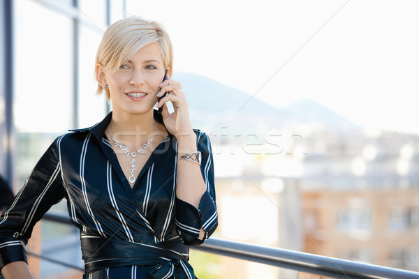 Businesswoman on phone Stock photo © nyul