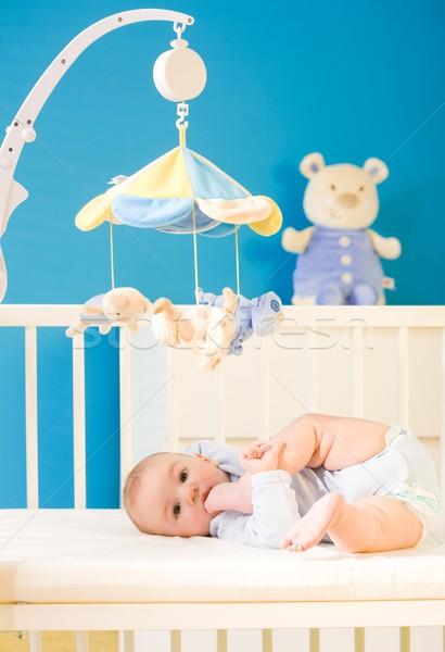 Baby kwekerij zuigeling spelen weinig Stockfoto © nyul