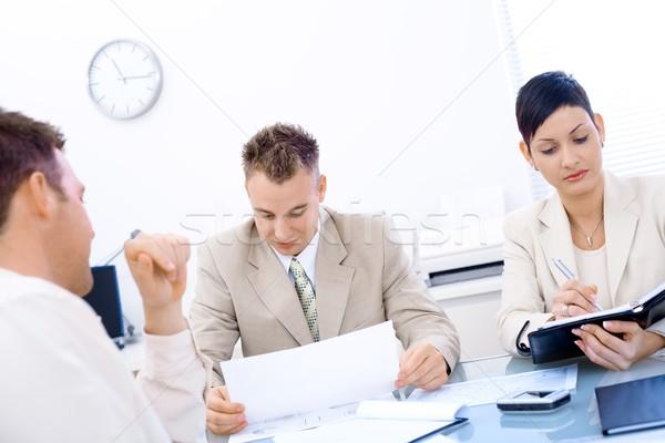 Entrevista de emprego escritório homem reunião grupo Foto stock © nyul