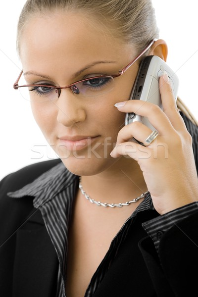Businesswoman talking on phone Stock photo © nyul