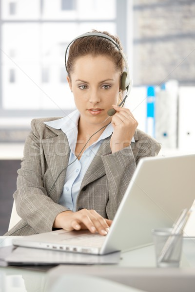 Attractive dispatcher working in bright office Stock photo © nyul