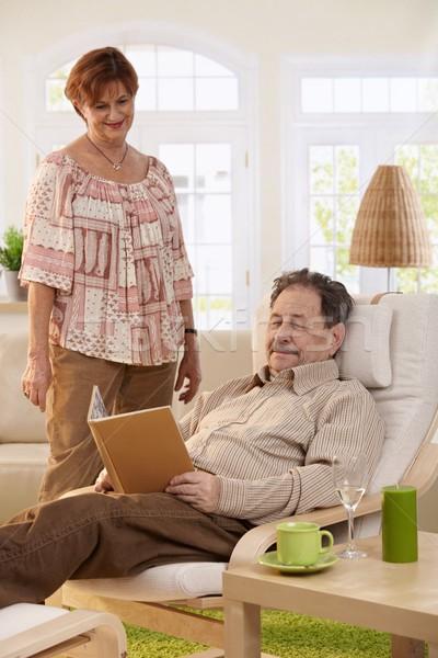ストックフォト: 高齢者 · カップル · ホーム · シニア · 男