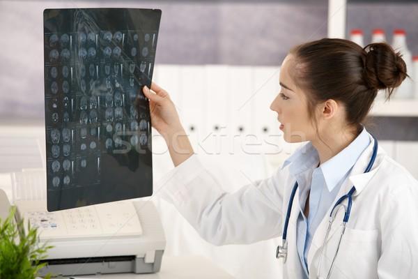 Jovem feminino médico escritório sessão secretária Foto stock © nyul