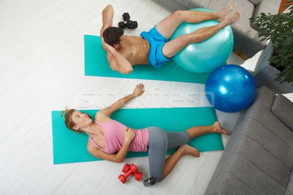 Abdominal exercises Stock photo © nyul