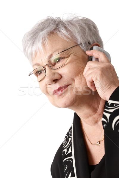 Portrait femme téléphone portable actif Photo stock © nyul