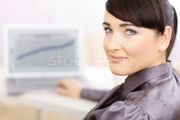 Business woman in office Stock photo © nyul