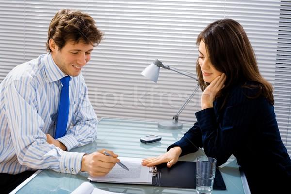 Business adviseur zakenman zakenvrouw team Stockfoto © nyul