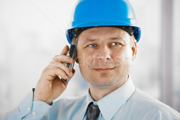 Portrait of architect with mobile Stock photo © nyul