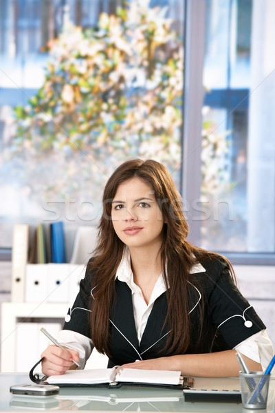 Stock photo: Office portrait of young woman