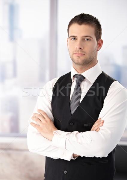 Portrait of businessman in waistcoat Stock photo © nyul