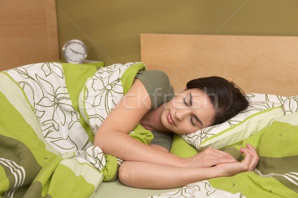 Woman sleeping late Stock photo © nyul