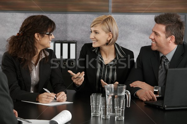 Businesswoman explaining on meeting Stock photo © nyul