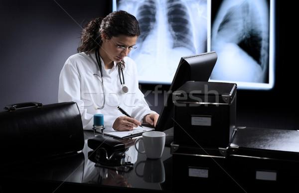Orvosok szoba fiatal női orvos nő Stock fotó © nyul