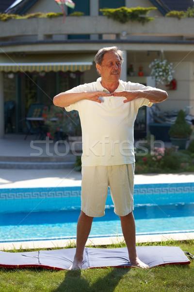 Senior man workout Stock photo © nyul