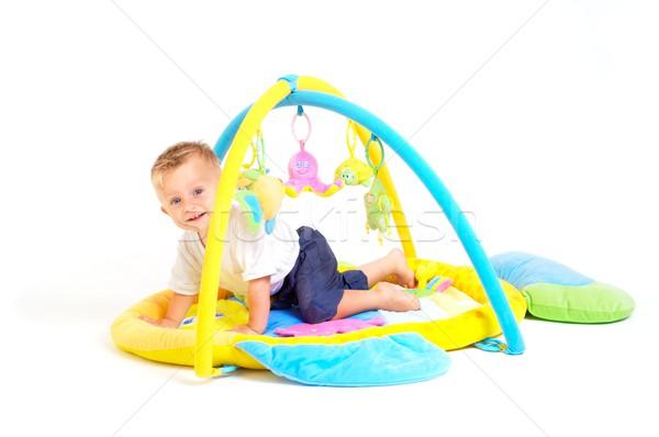 Stockfoto: Baby · speelgoed · jongen · spelen
