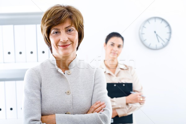 Businesswoman and associate Stock photo © nyul