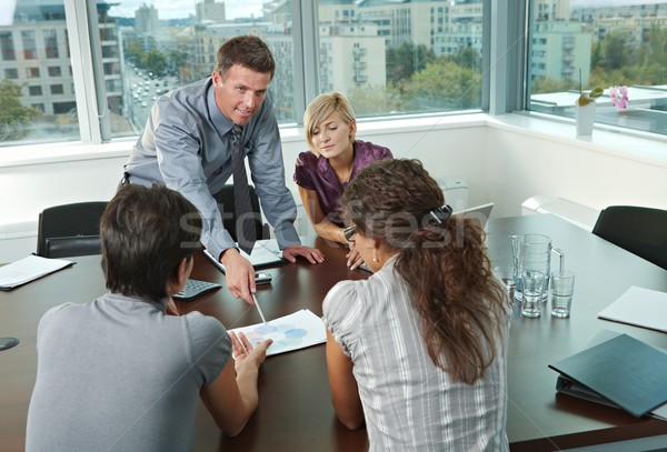 Stock photo: Business people meeting at office