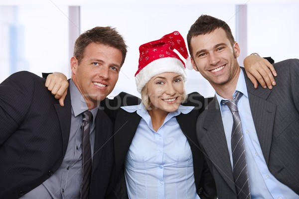 Friends celebrating Christmas at office Stock photo © nyul