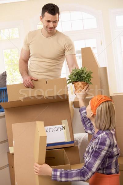 Сток-фото: пару · двигаться · собственности · готовый