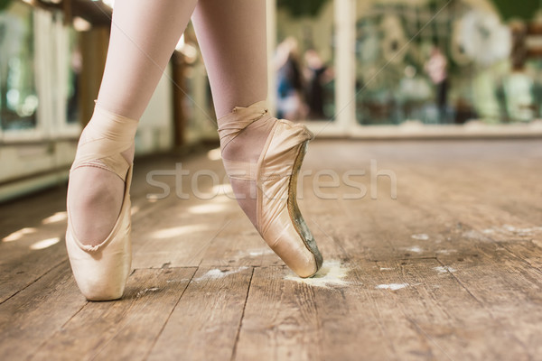 Pointe Shoes In Rosin Stock photo © O_Lypa