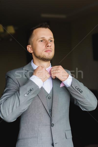 Foto stock: Homem · elegante · jovem · moda · curativo