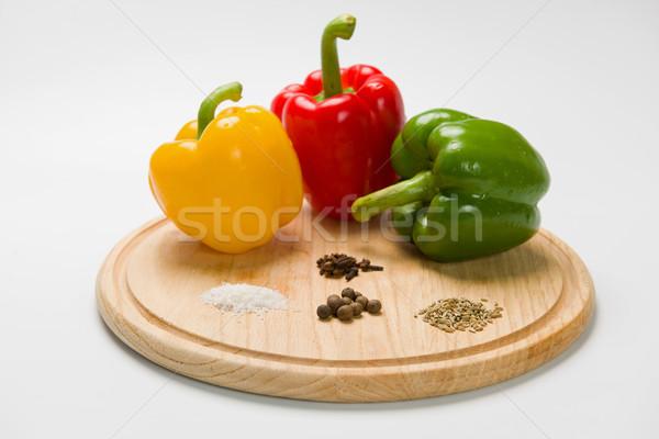 Paprikák különböző fűszer három különböző színek Stock fotó © O_Lypa