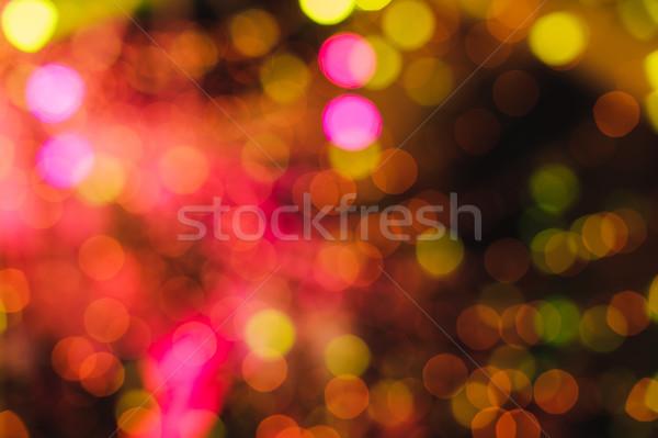 Fények csillagok karácsony színes absztrakt elmosódott Stock fotó © O_Lypa