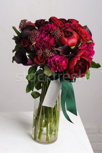 Bouquet of red peonies. Stock photo © O_Lypa