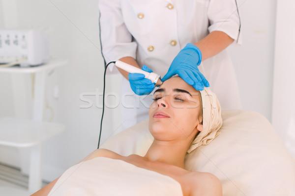 Nő kozmetikai fürdő klinika fiatal egészséges Stock fotó © O_Lypa