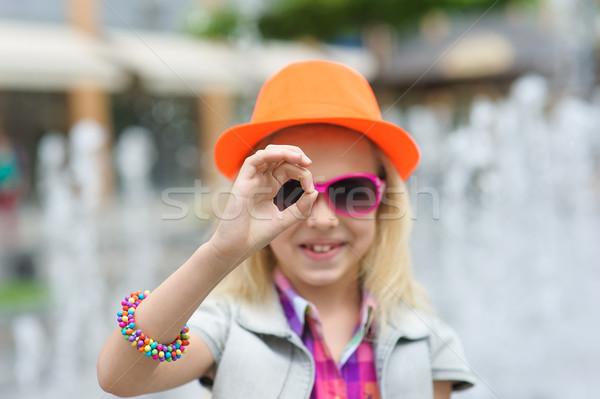Meisje portret modieus Stockfoto © O_Lypa