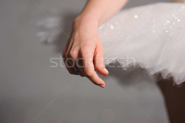 Hand of ballerinas with her tutu. Stock photo © O_Lypa