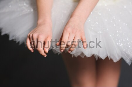 Hands of ballerinas with her tutu. Stock photo © O_Lypa