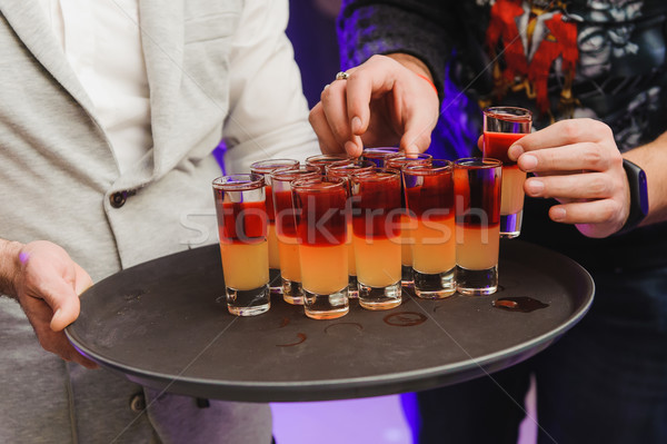 Kort drinken alcohol cocktails drinken partij Stockfoto © O_Lypa