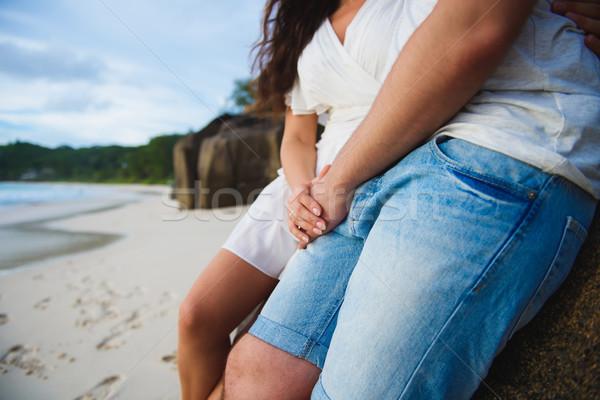 Couple in love on the beach Stock photo © O_Lypa