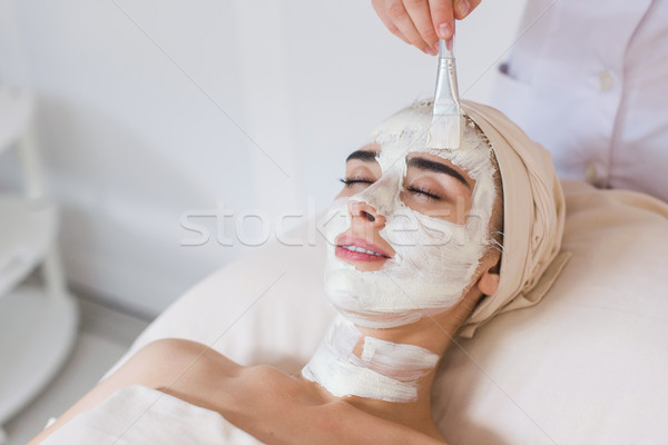 Spa salon güzellik organik maske Stok fotoğraf © O_Lypa