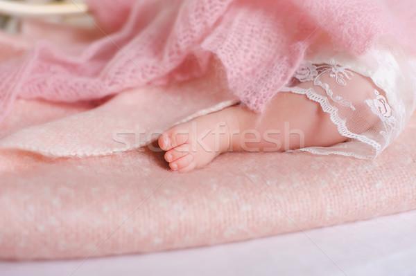 Zdjęcia stock: Baby · stóp · snem · stóp · różowy