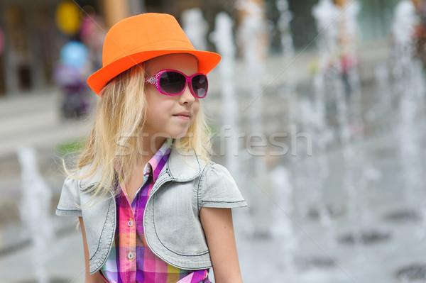 Stock fotó: Portré · lány · divatos · ruházat · elegáns · bájos