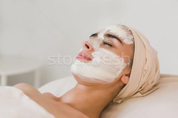 Yüz maske spa uygulama güzellik Stok fotoğraf © O_Lypa