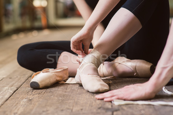 Ballerine jeunes danseur fille Photo stock © O_Lypa