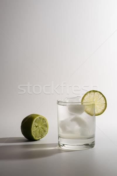 Limonádé szelet citrus fehér jég friss Stock fotó © O_Lypa