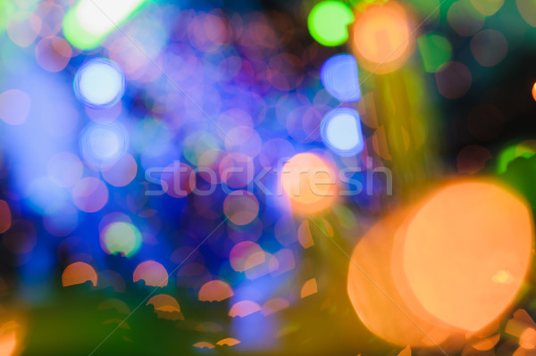 Defocused colorful ligths of Christmas tree. Stock photo © O_Lypa