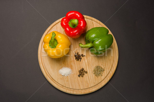 Peppers with various spices Stock photo © O_Lypa