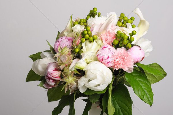 Bouquet of white peonies. Stock photo © O_Lypa