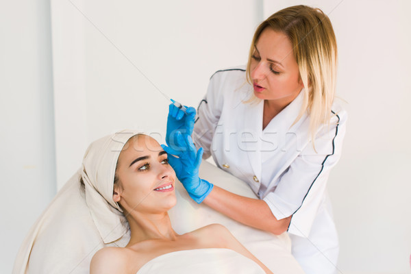 Stock photo: Beauty facial injections