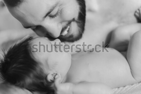 счастливым отец ребенка мальчика Сток-фото © O_Lypa