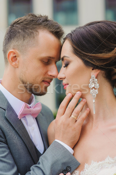 Foto d'archivio: Giovani · wedding · Coppia · bacio · esterna